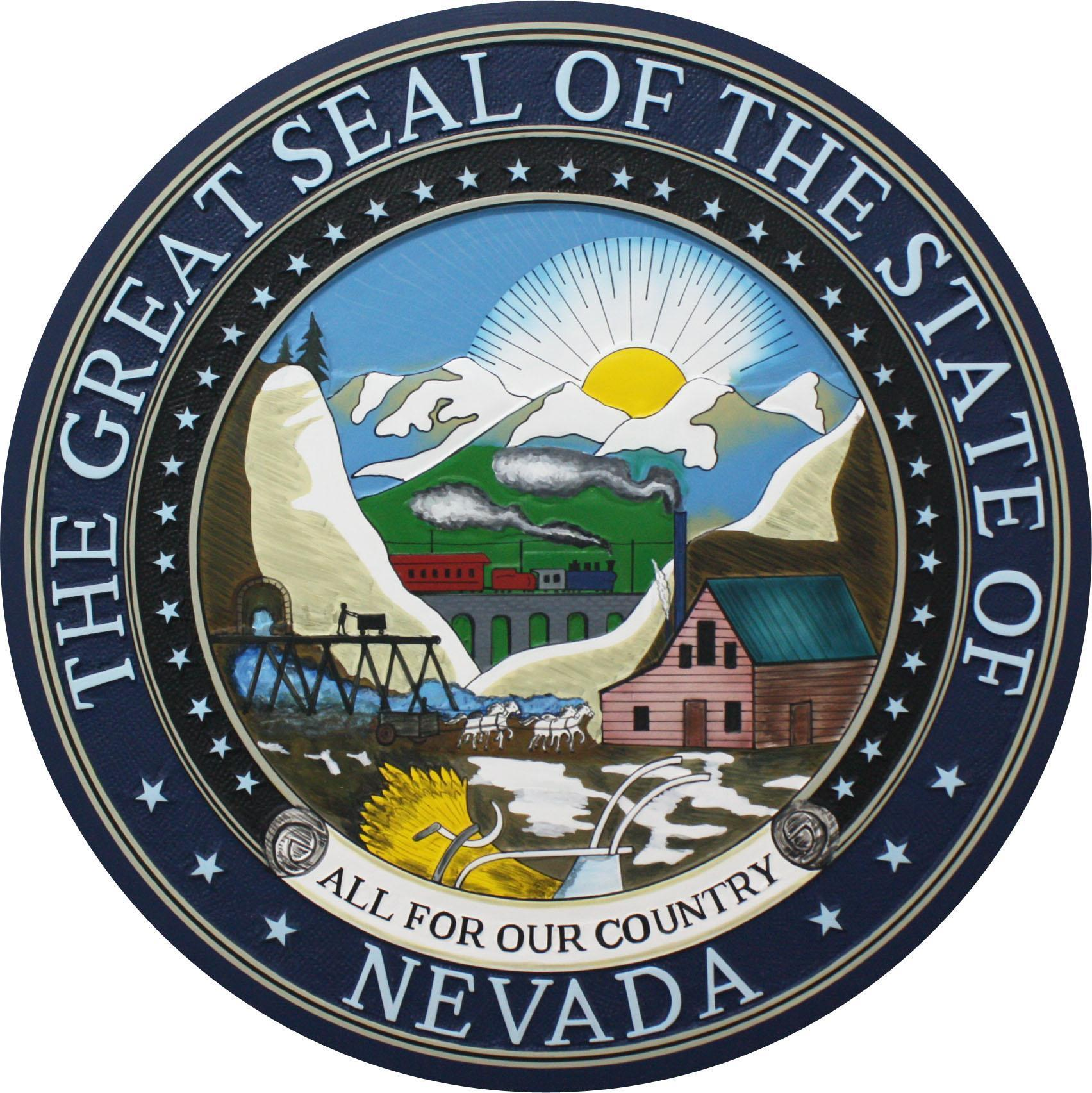 Nevada State Seal Plaque