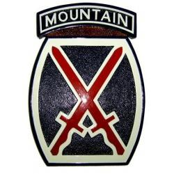 10th mountain division patch plaque