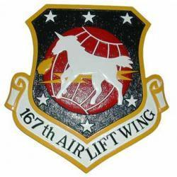 167th Airlift Squadron Plaque