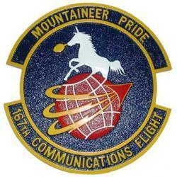 167th Communications Flight Plaque