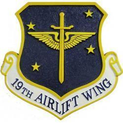 19th Airlift Wing Plaque