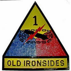 1st Armored Division Old Ironside Military Patch Plaque