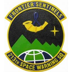 213th space warning squadron plaque