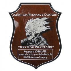 245th Maintenance Company Presentation Plaque