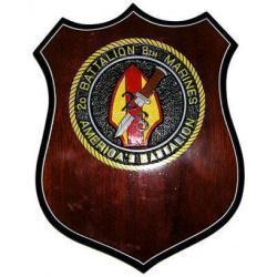 2d Battalion 8th Marines Patch Plaque
