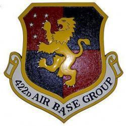 422d Air Base Group Crest Plaque
