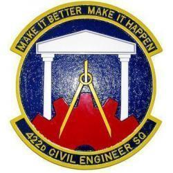 422d Civil Engineer Squadron Plaque