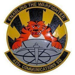 422d Communications Squadron Patch Plaque