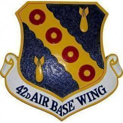 42d Air Base Wing Crest Plaque