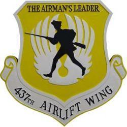 437th airlift wing airmans leader plaque