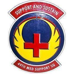 49th Medical Support Squadron Plaque