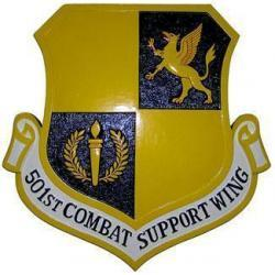 501st Combat Support Wing Crest Plaque