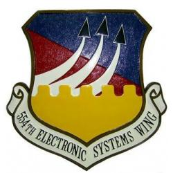 554th Electronic Systems Wing Squadron Plaque