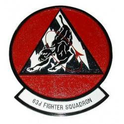 63rd Fighter Squadron Plaque