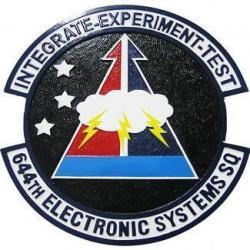 644th Electronic Systems Squadron Seal Plaque
