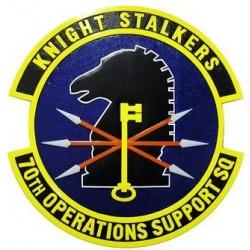 70th operations support squadron seal plaque
