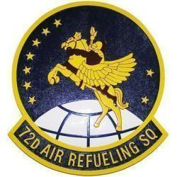 72D Air Refueling Squadron Seal Plaque