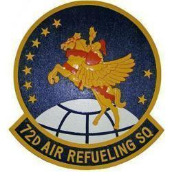 72d Air Refueling Squadron Patch Plaque