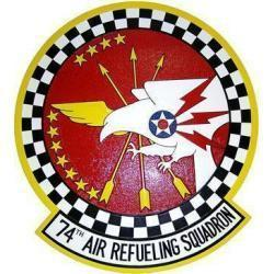 74th Air Refueling Squadron Patch Plaque