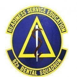 82D Dental Squadron Seal Plaque