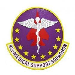 82D Medical Support Squadron Seal Plaque