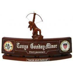 Adjutant General Archer Top Desk Nameplate