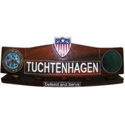 Adjutant General Desk Nameplate