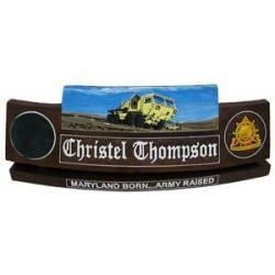 Army Desk Nameplate with Custom Top Design
