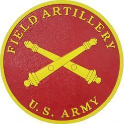 Army Field Artillery Seal Plaque