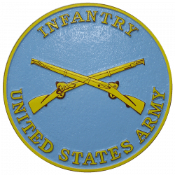 Army Insignia Infantry Seal Plaque