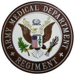 Army Medical Department Regiment Seal Plaque