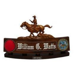 Buffalo Soldier Desk Nameplate