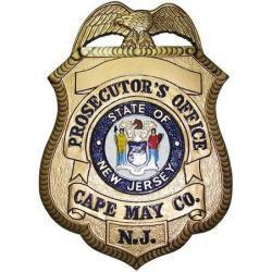 Cape May Prosecutors Badge Plaque