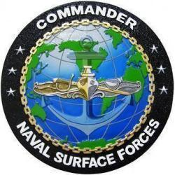 Commander Naval Surface Forces Seal Plaque