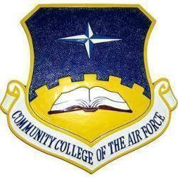 Community College of the Air Force CCAF Crest Plaque
