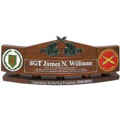 Cross Artillery Presentation Desk Nameplate