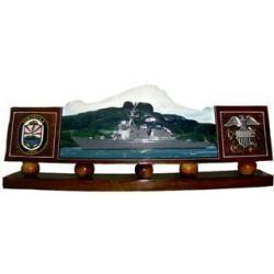 Custom Design US Navy Desk Nameplate