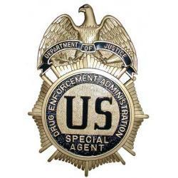DEA Badge Plaque