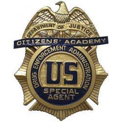 DEA Citizens Academy Badge Plaque