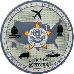 DHS Office of Inspection Plaque