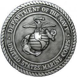 Department of the Navy USMC Silver Finished