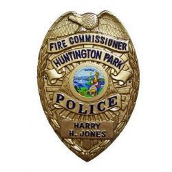 Fire Commisioner Huntington Police Badge Plaque