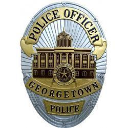 Georgetown Police Officer Badge Wood Plaque