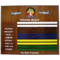 Greenie Board Navy Carrier Landing Board Navy Deployment Plaque