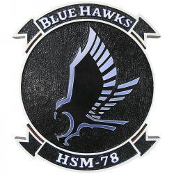 HSM 78 Blue Hawks Plaque