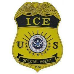 ICE Badge Plaque Immigration Customs Enforcement