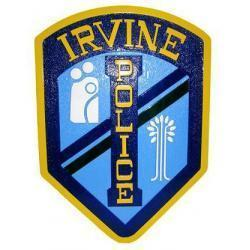 Irvine Police Department Patch Plaque