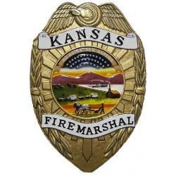 Kansas Fire Marshal Badge Plaque