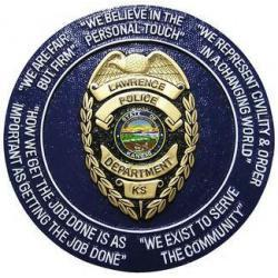 Lawrence Police Department Seal Plaque