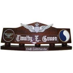Master Aviation Desk Nameplate